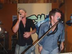 Simon Wright and Andy V sweating it up at Choppers 6 June 2014