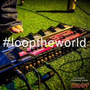 looptheworld pedal on grass