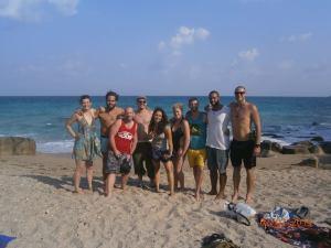 From left: Hannah, Josh, Terry, Simon, Lia, Tanya, Reeve,  Ethan, Jordan.