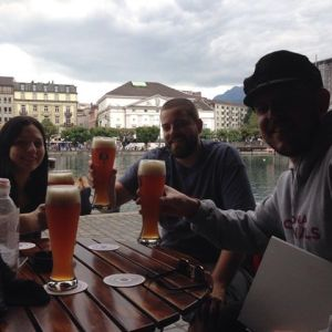 Beers by the lake in Lucerne.